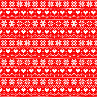 ❄ Snowflakes ❄ Nordic Red
