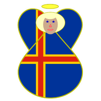 Aaland Islands Angel Flag Blonde