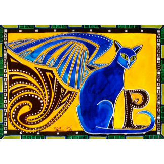 Cat Art - Winged Feline