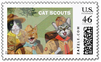 Cat Scouts Postage
