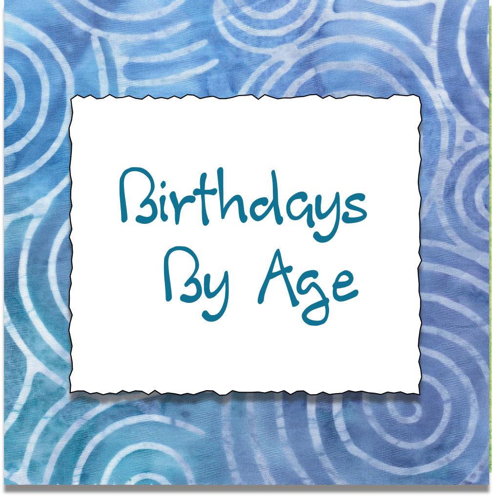 BIRTHDAYS BY AGE