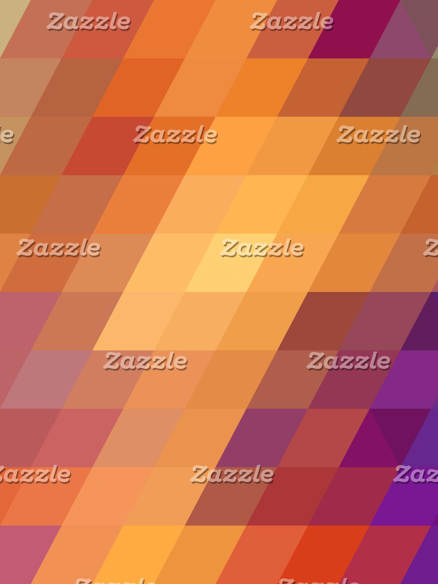 Geometric Patterns | Orange Parallelograms