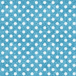 Blue Glitter White Polka Dots