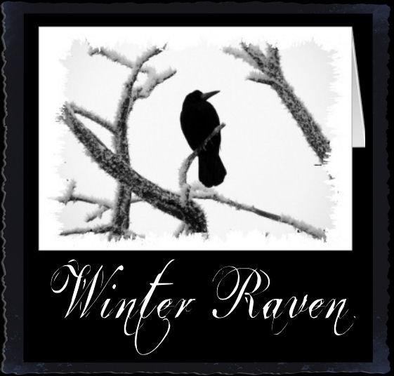 B&W Winter Raven Edgar Allan Poe