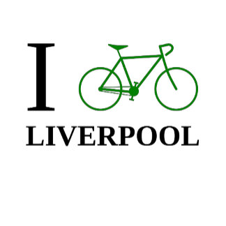 """I Bike ..."" Green Bicycle Icon"