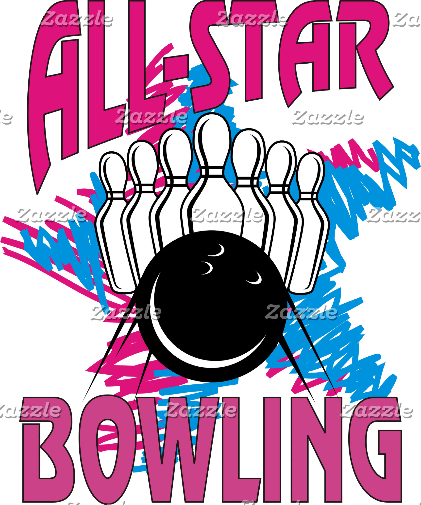 All Star Bowling T-Shirts Gifts Cards