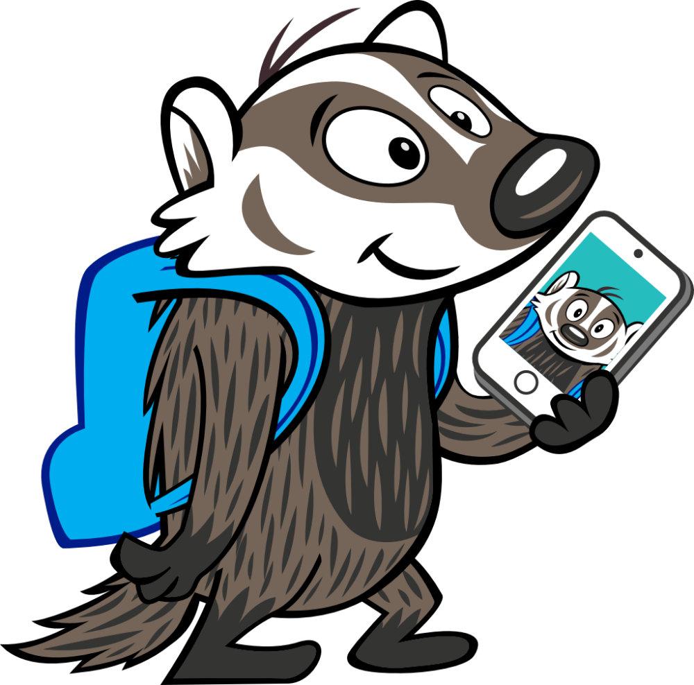 Boomer Badger Selfie
