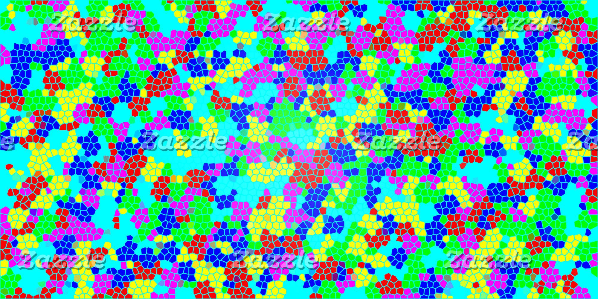 Multicolor Rainbow Confetti Mosaic Pattern