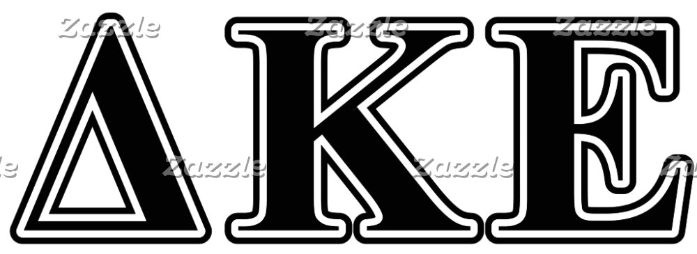 Delta Kappa Epsilon Black Letters