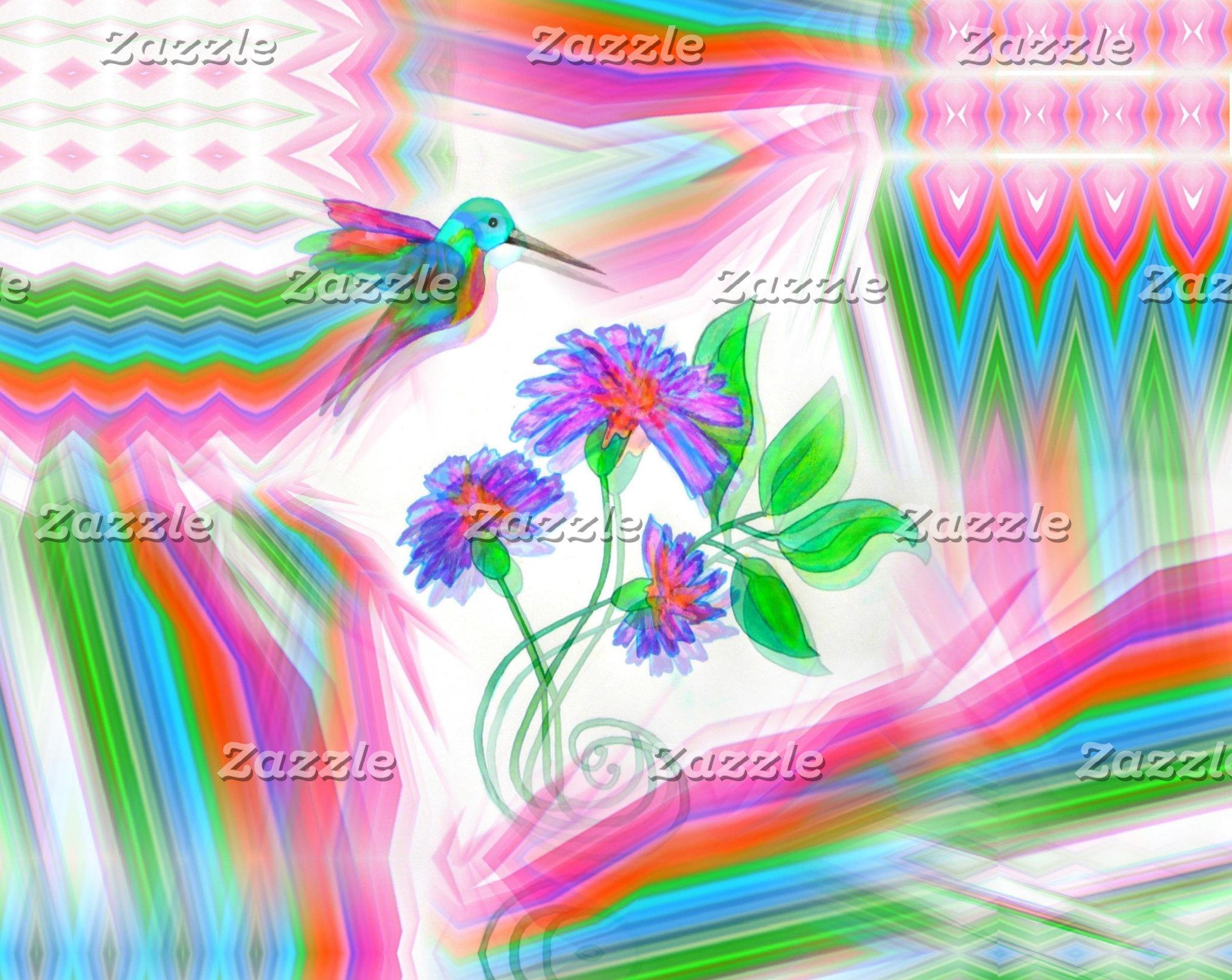 Hummingbird Flight Kaleidoscope