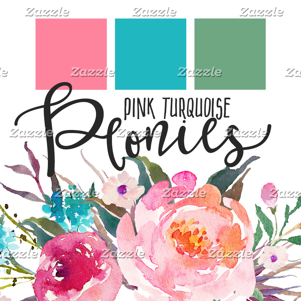 Pink Turquoise Peonies