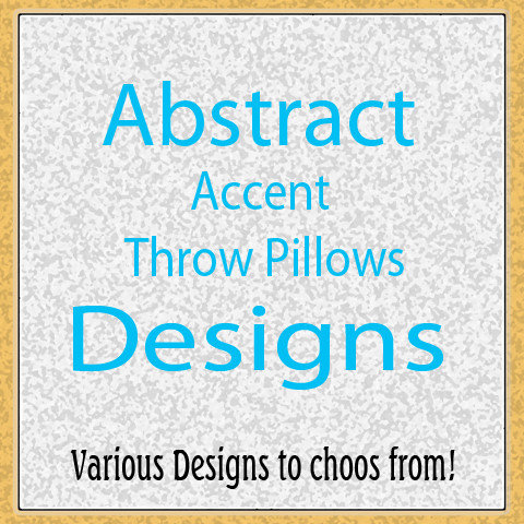 Abstract Accent Throw Pillows