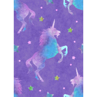 Purple Unicorn Pink Stars