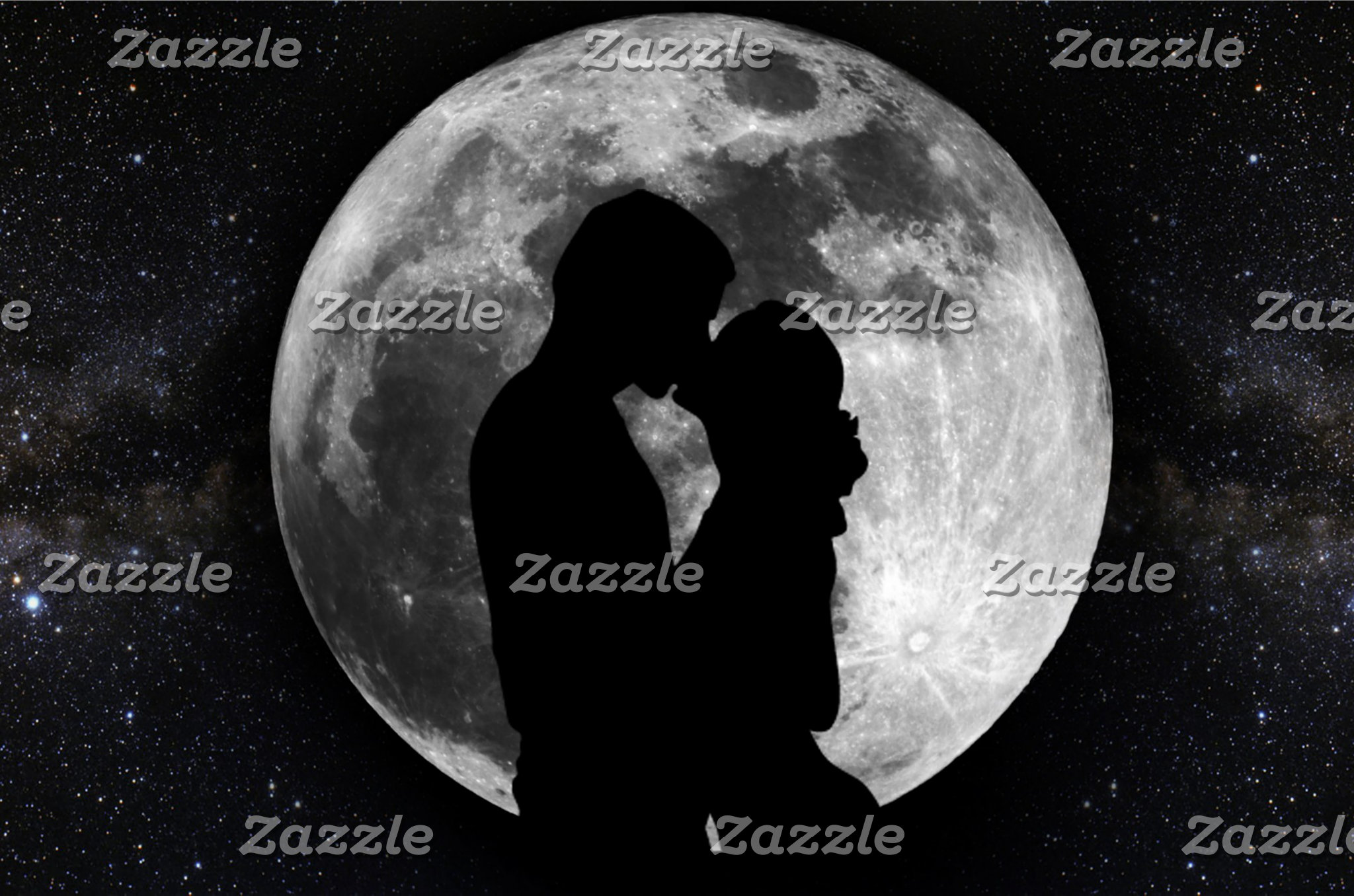 Lovers Moon Silhouette
