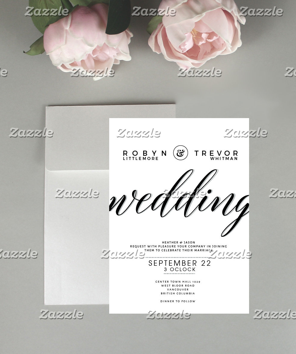 Typography Wedding Stationary