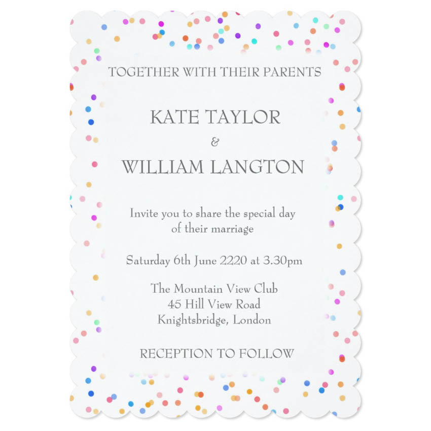 Wedding, Anniversary, Engagement Invitations