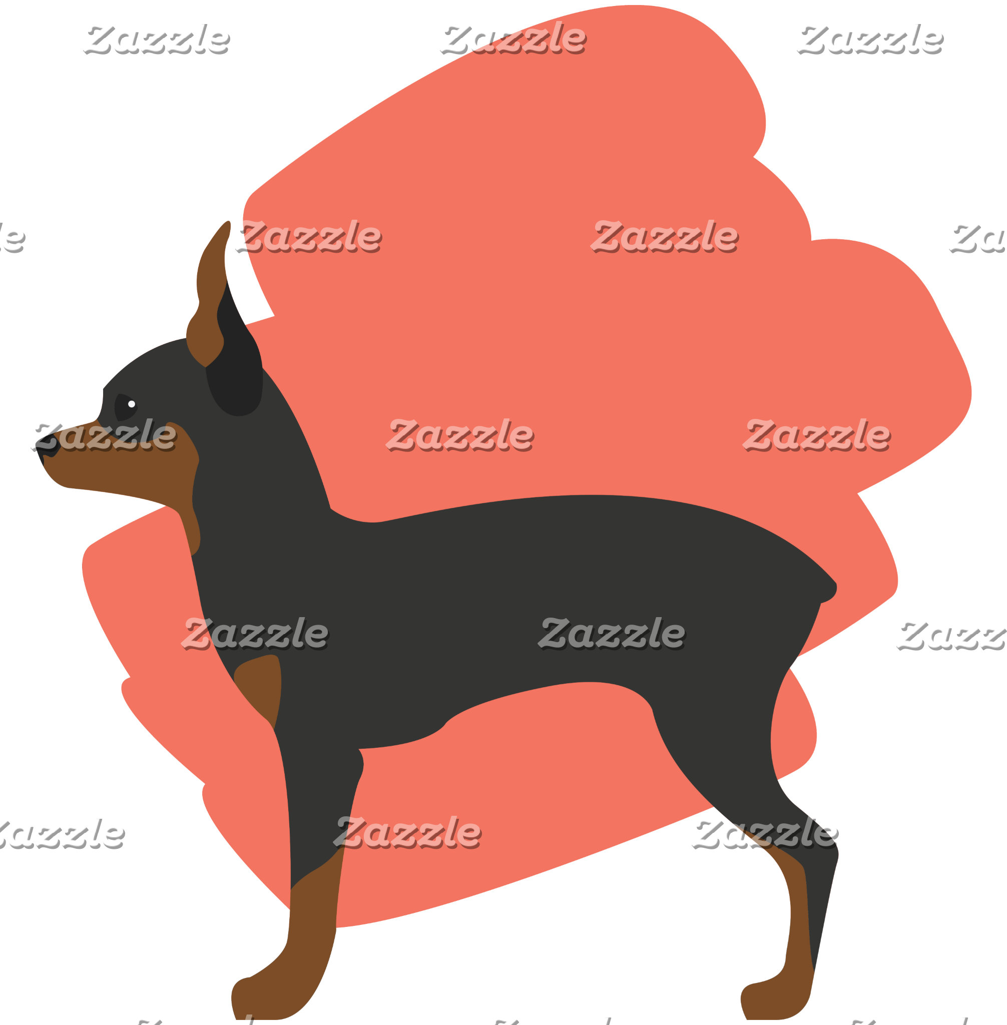 Cute Toy Terrier Dog Illustration