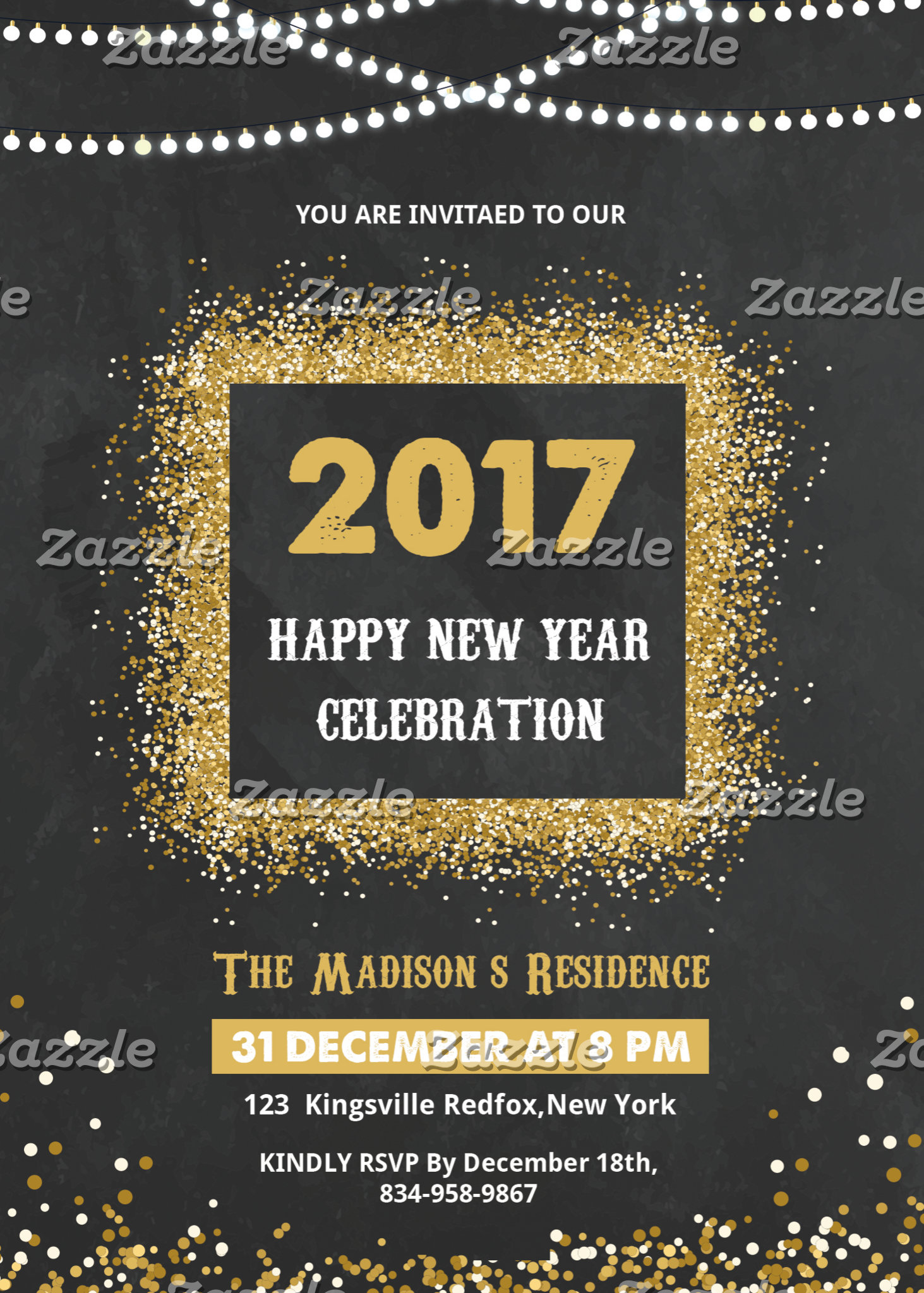 Party Invitation Flyer
