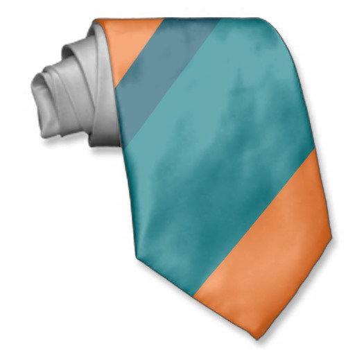Aqua and Orange