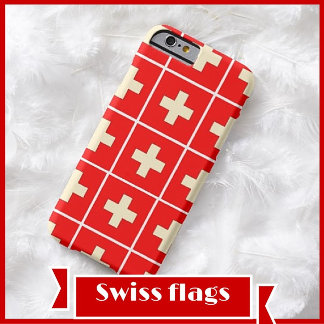 Swiss flags and logos