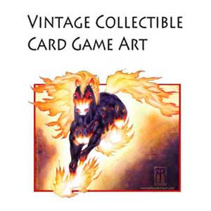 Vintage Collectible Card Game Art