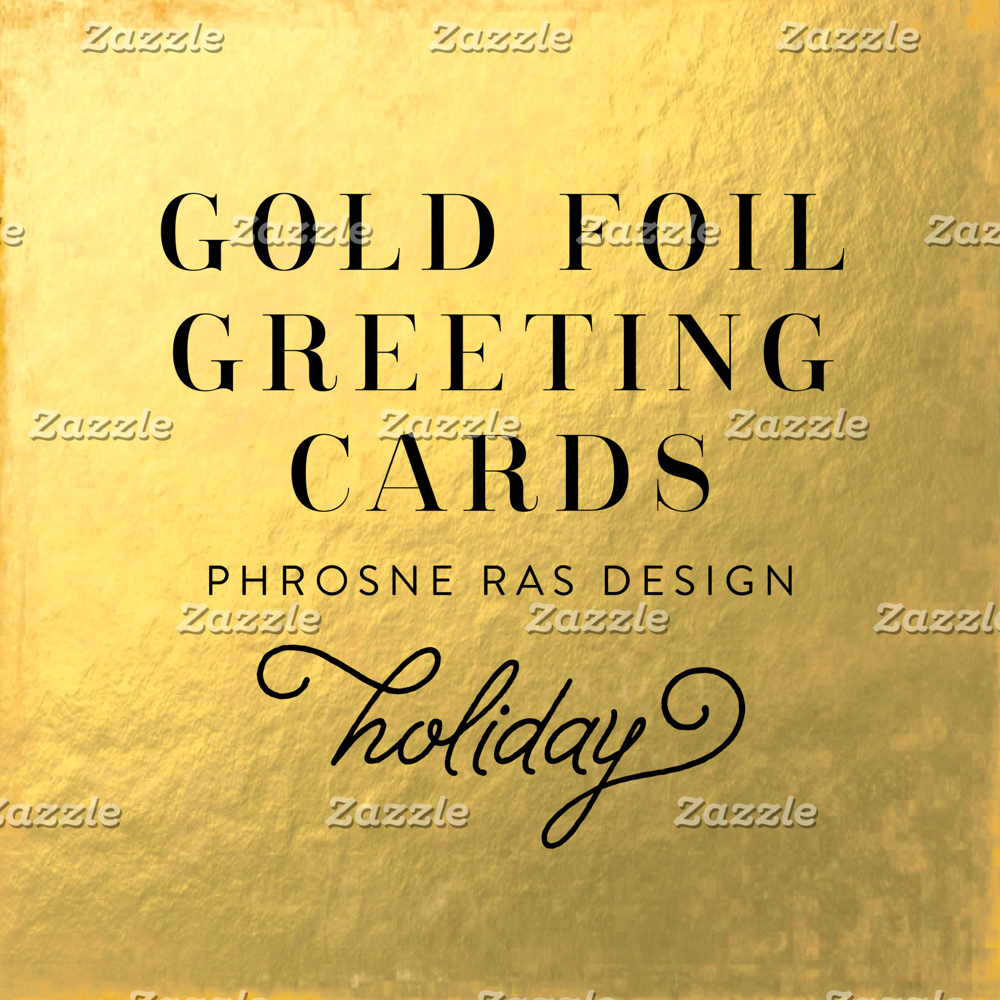 Real Foil Holiday Cards