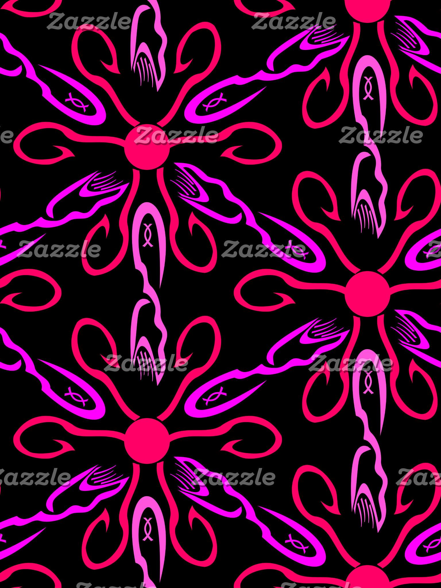 Pink Fishhook and Purple Fish Hook Pattern