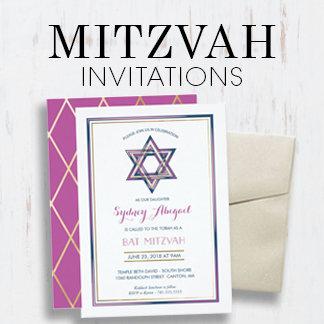 Bar & Bat Mitzvah Invitations