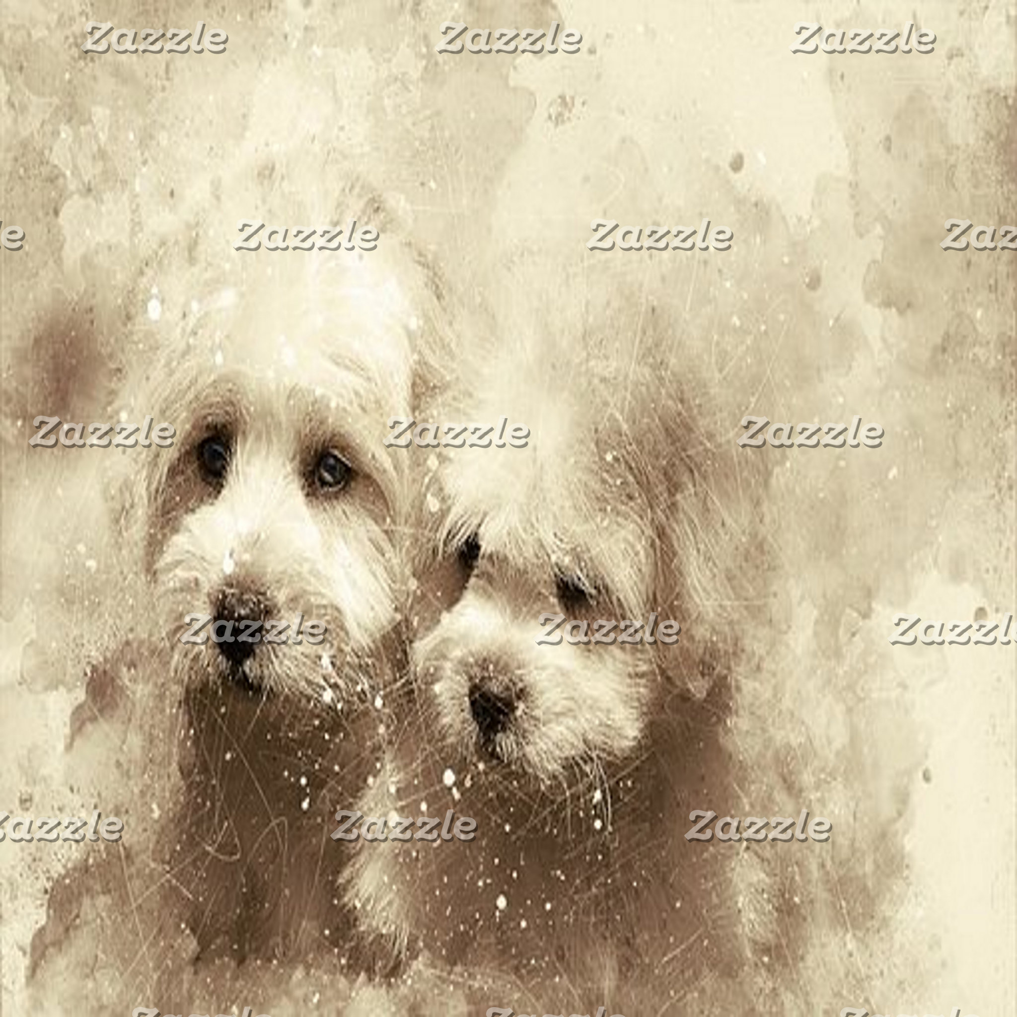 Abstract Art - Dogs