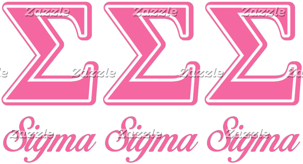 Sigma Sigma Sigma Pink Letters