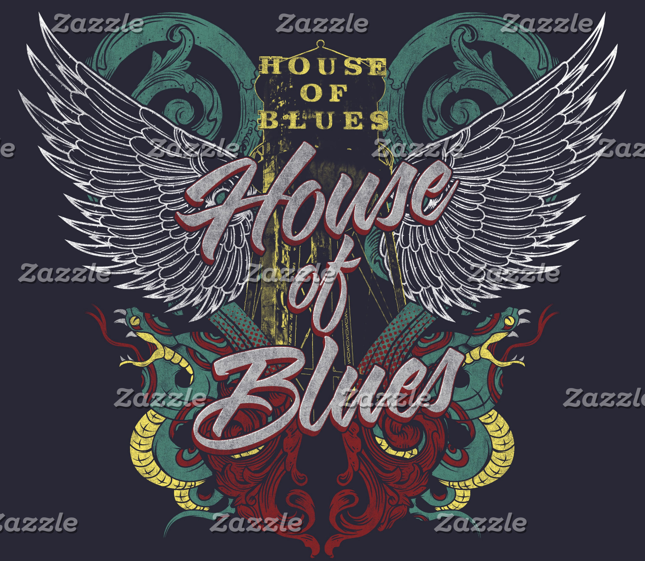 House of Blues Winged Design