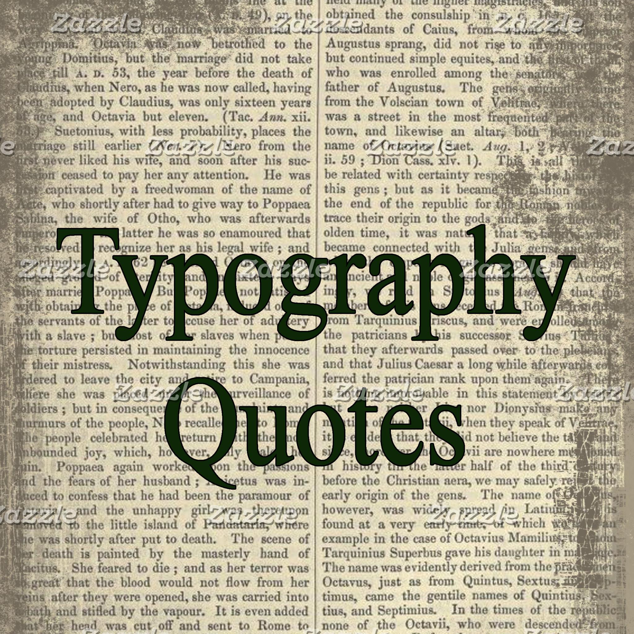 Typography/Quotes