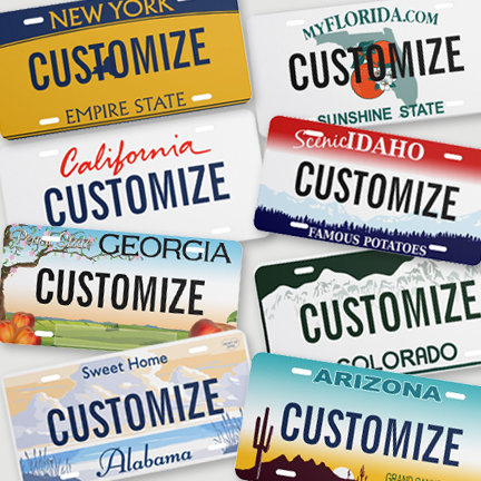 USA State License Plates