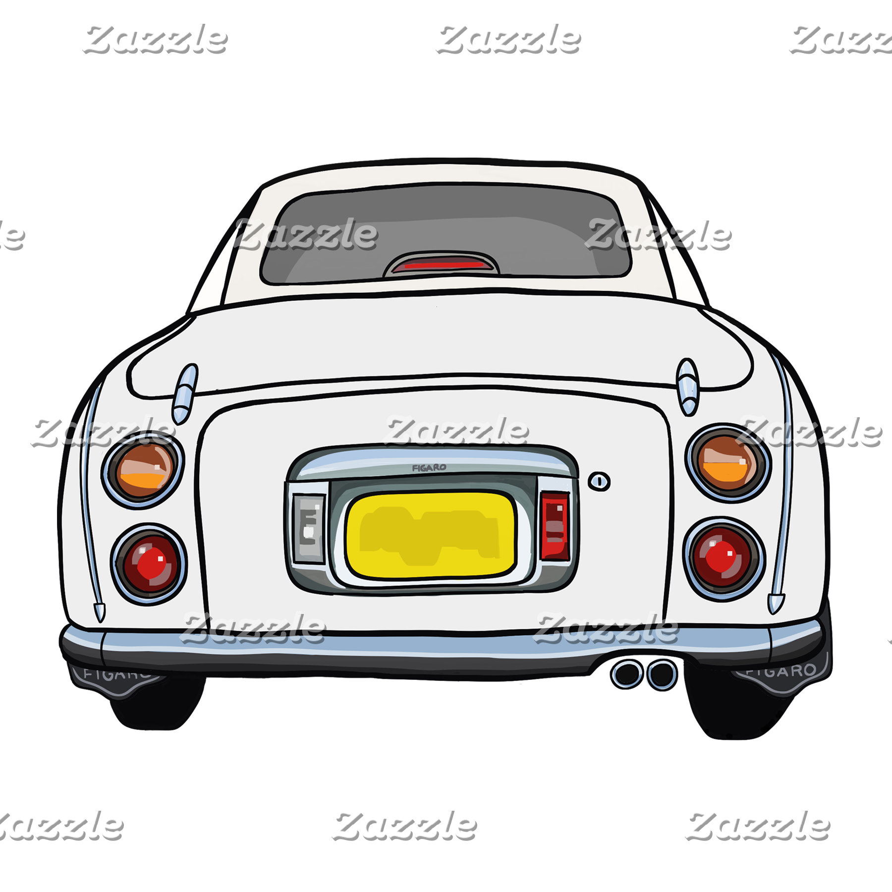 White Figaro Car