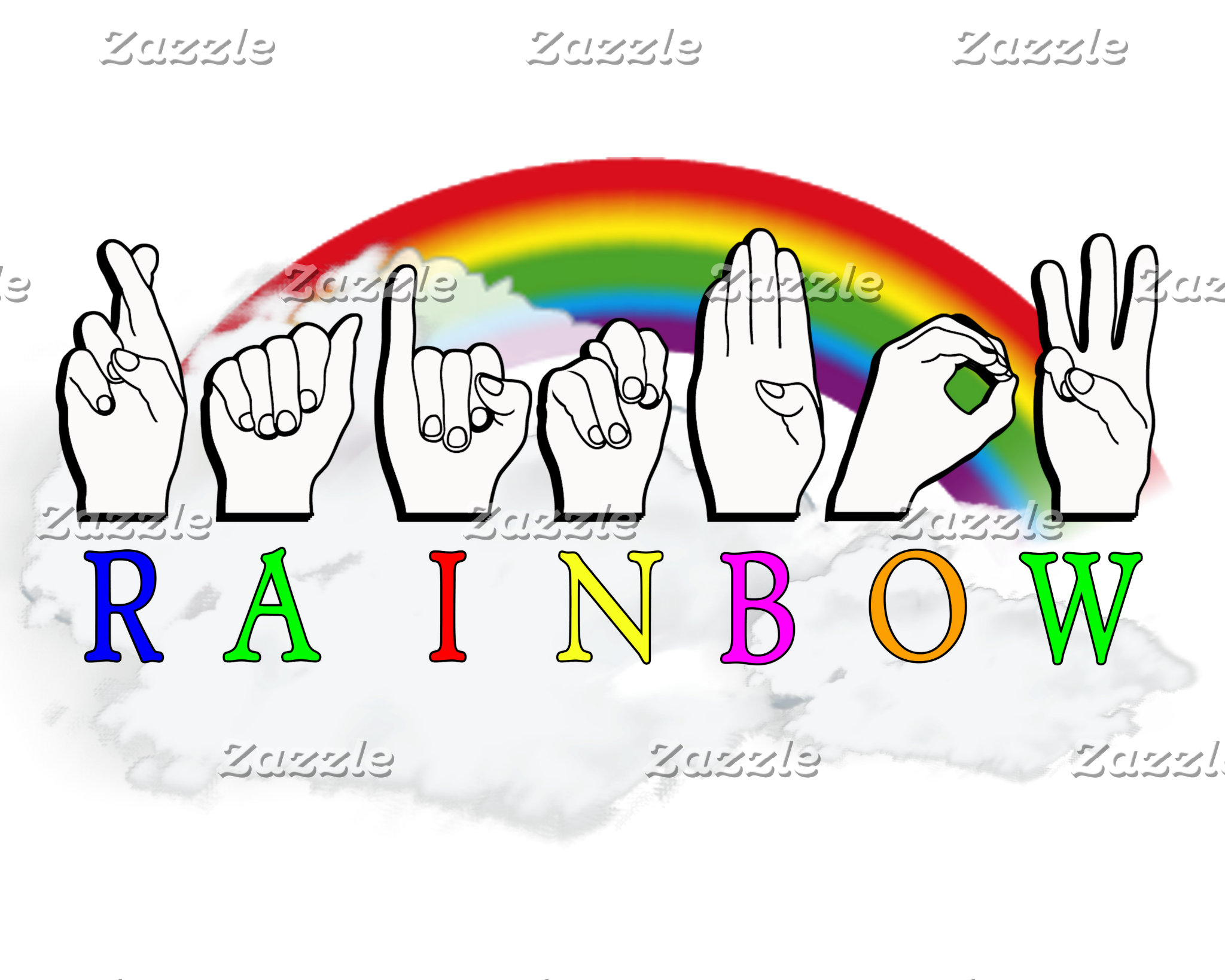RAINBOW ASL FOR DEAF