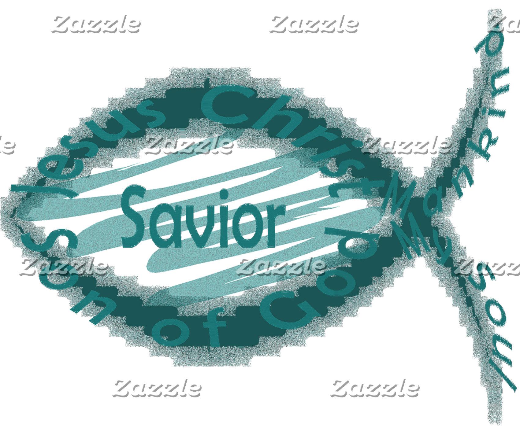 Jesus Savior Christian Fish Symbol