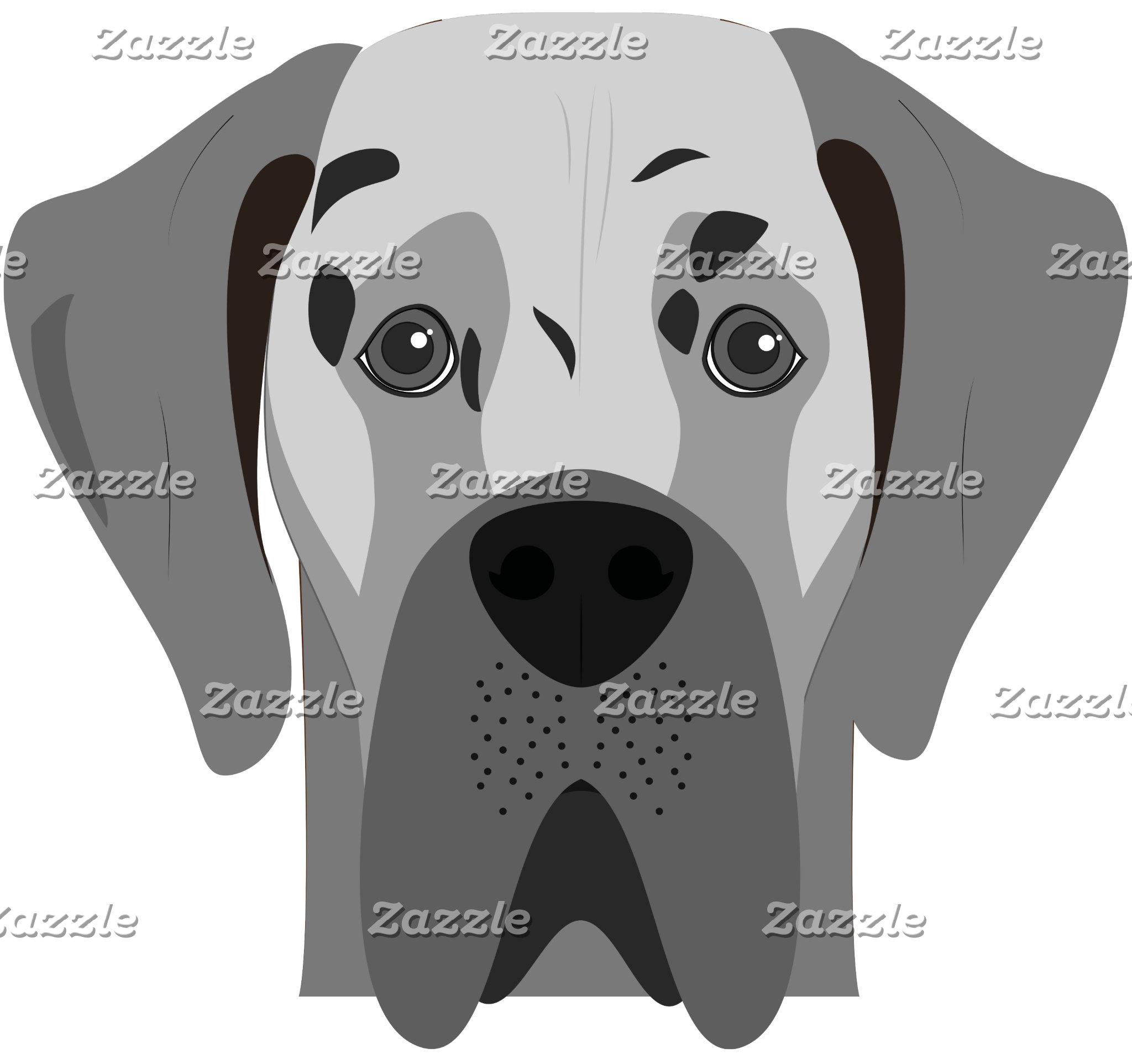 Great Dane Dog Portrait