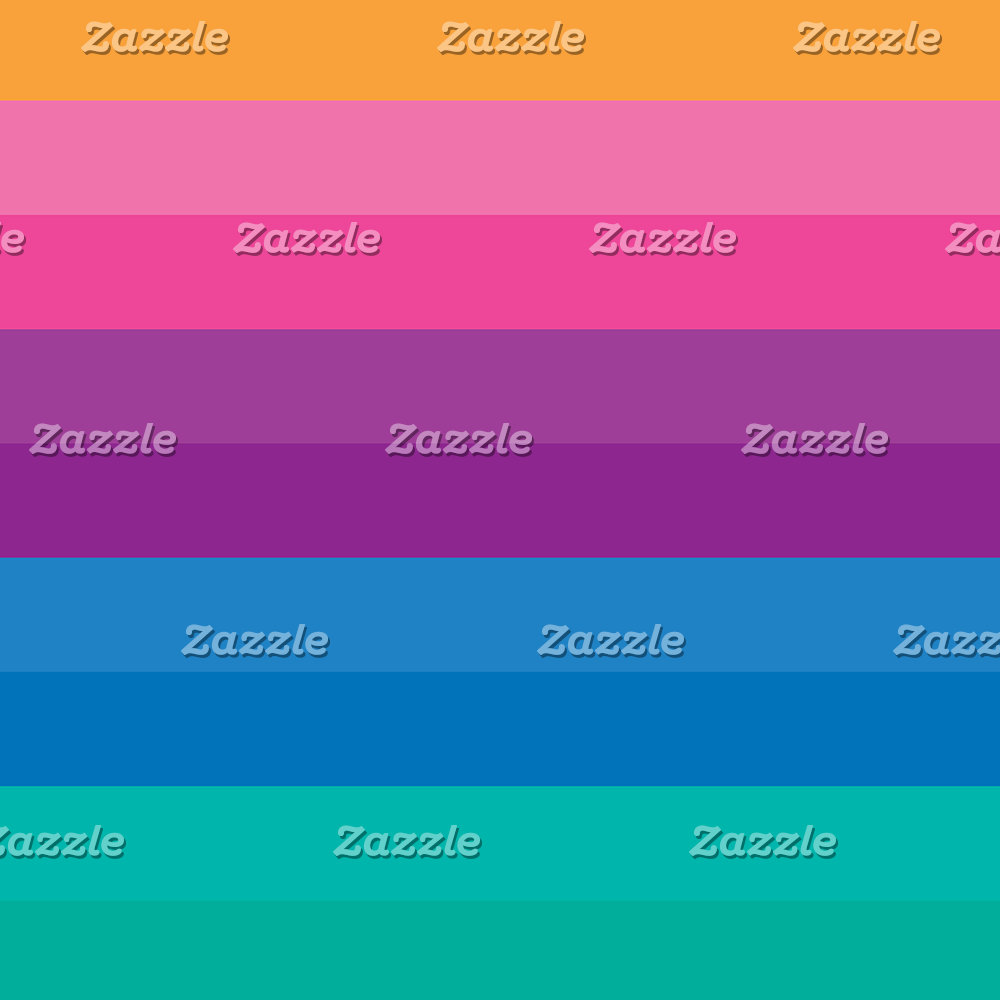 Retro Bright Multicolor Ombre Stripes Pattern