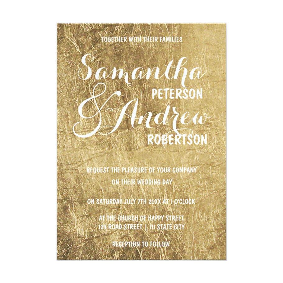 Luxury faux gold leaf wedding