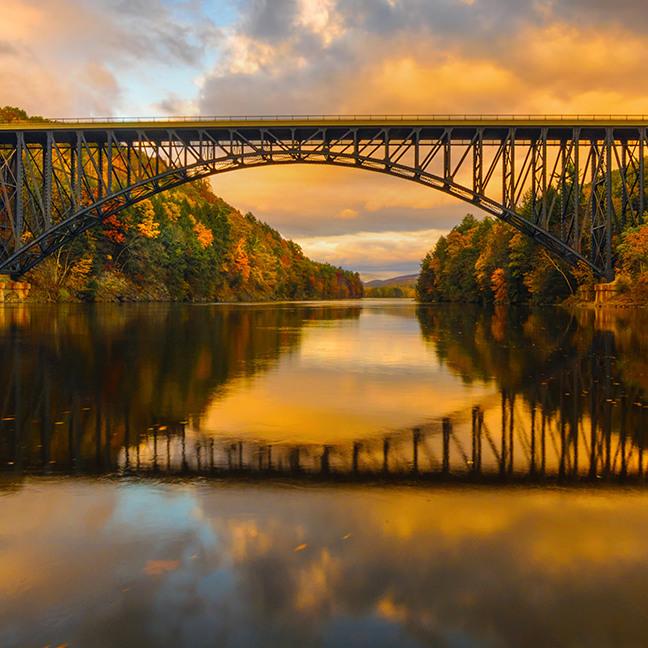 French King Bridge in Fall