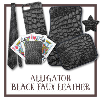 Alligator Black Faux Leather