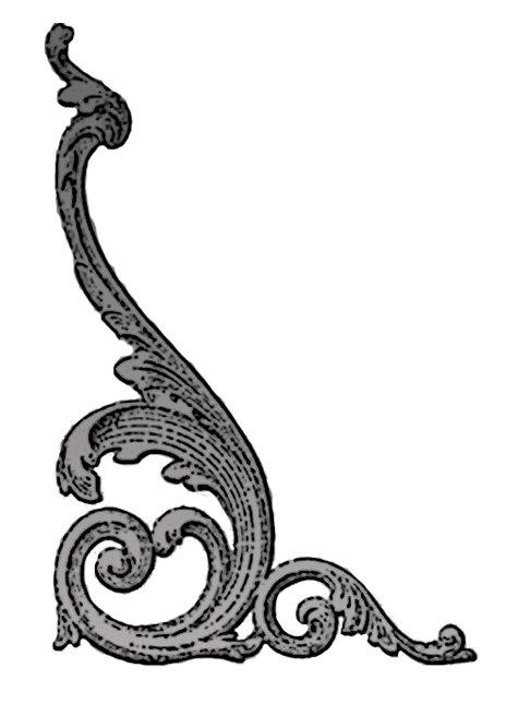 Elegant Goth Swirl Design