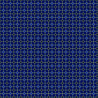Tiles Pattern  Royal Blue