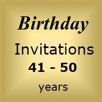 Invites Birthday : Age 41-50