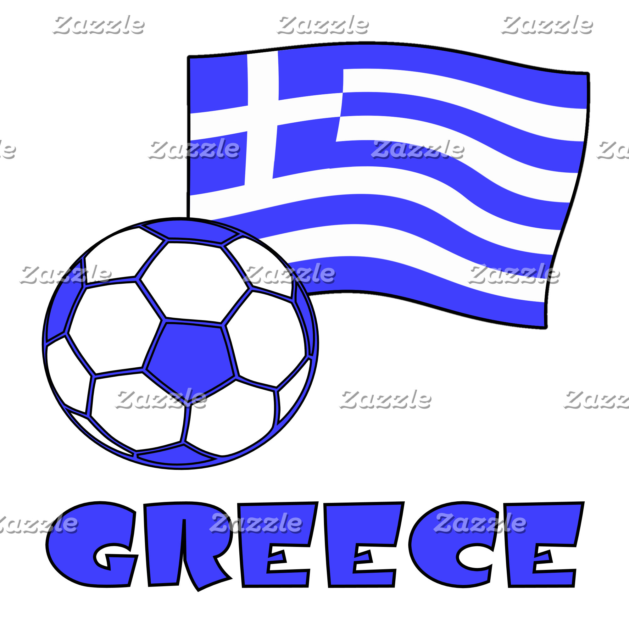 Soccer Greek Flag