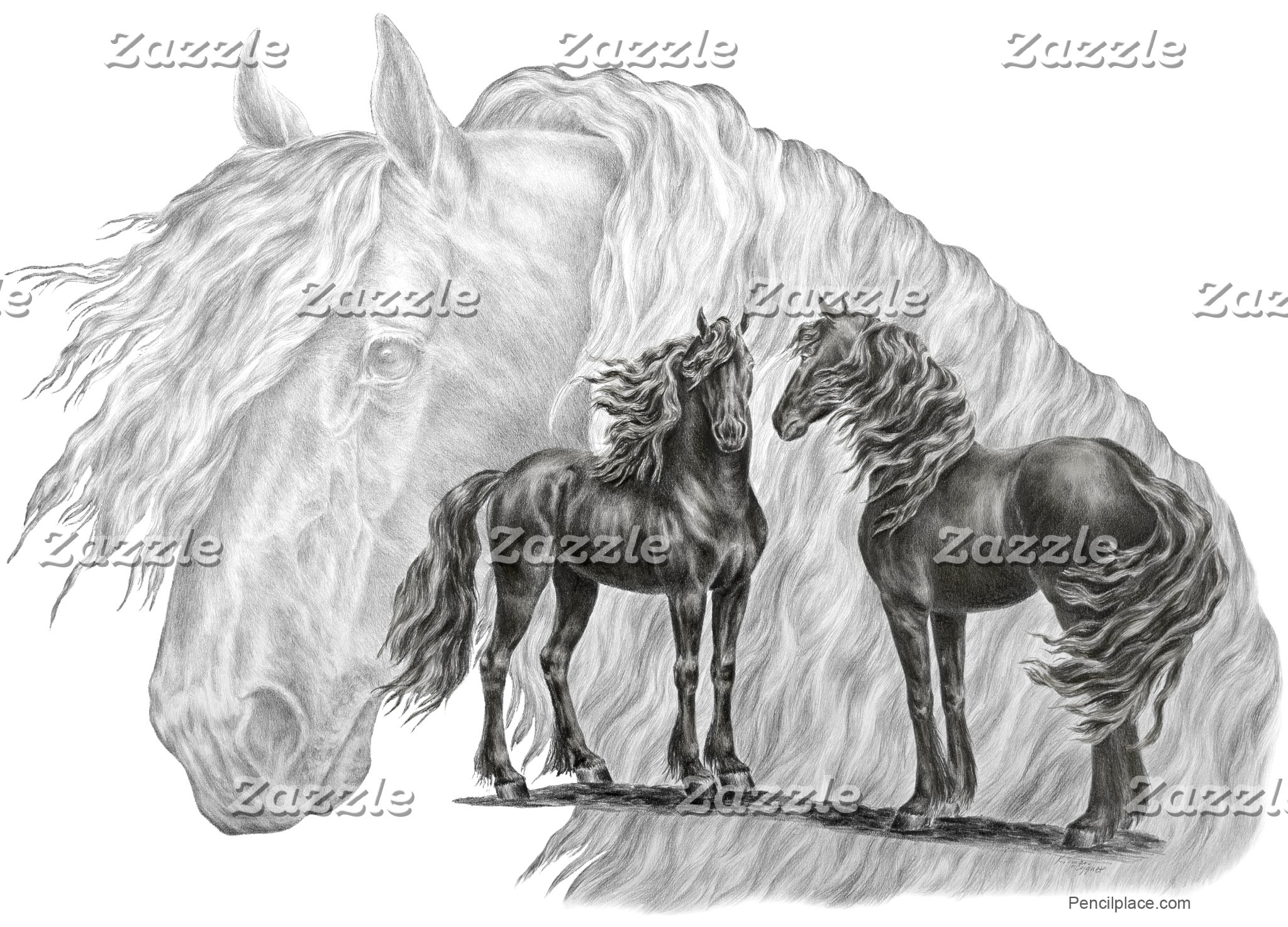 Friesian Horse Art