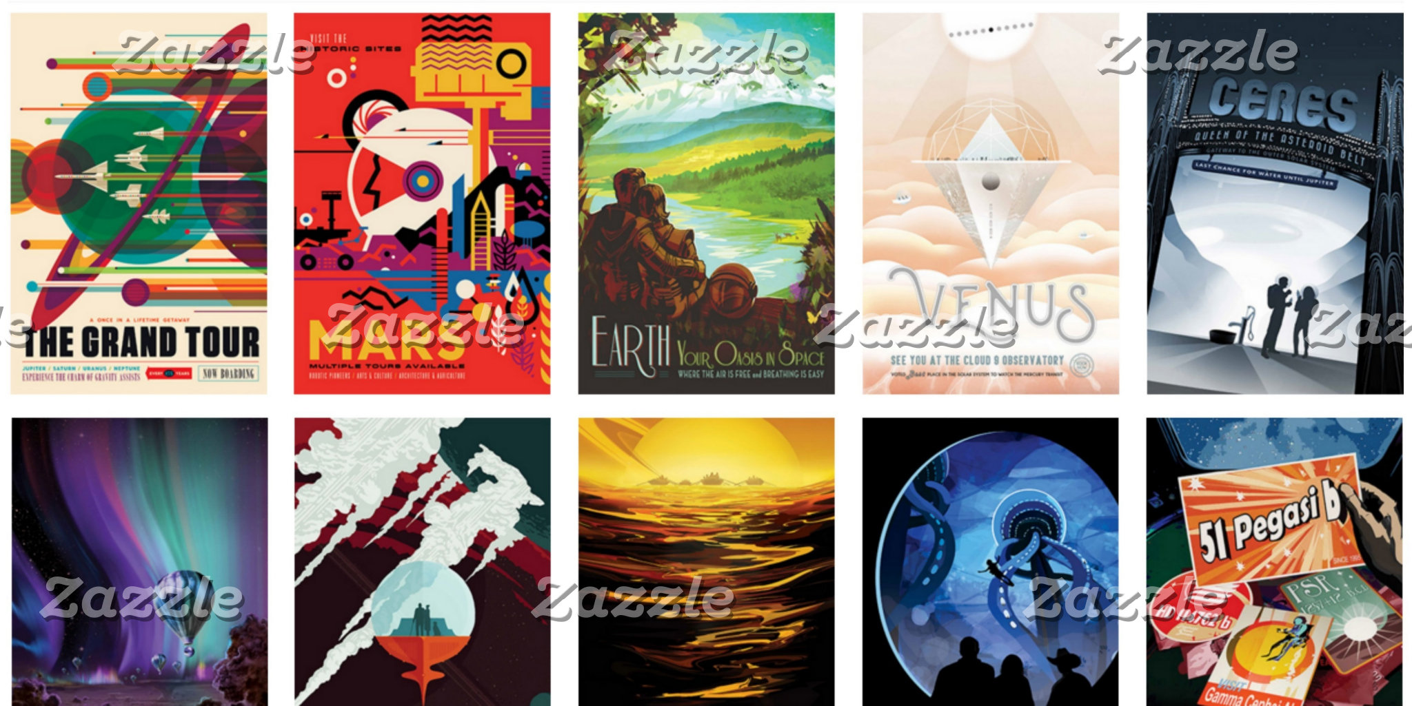Retro-Futuristic Space Travel Posters