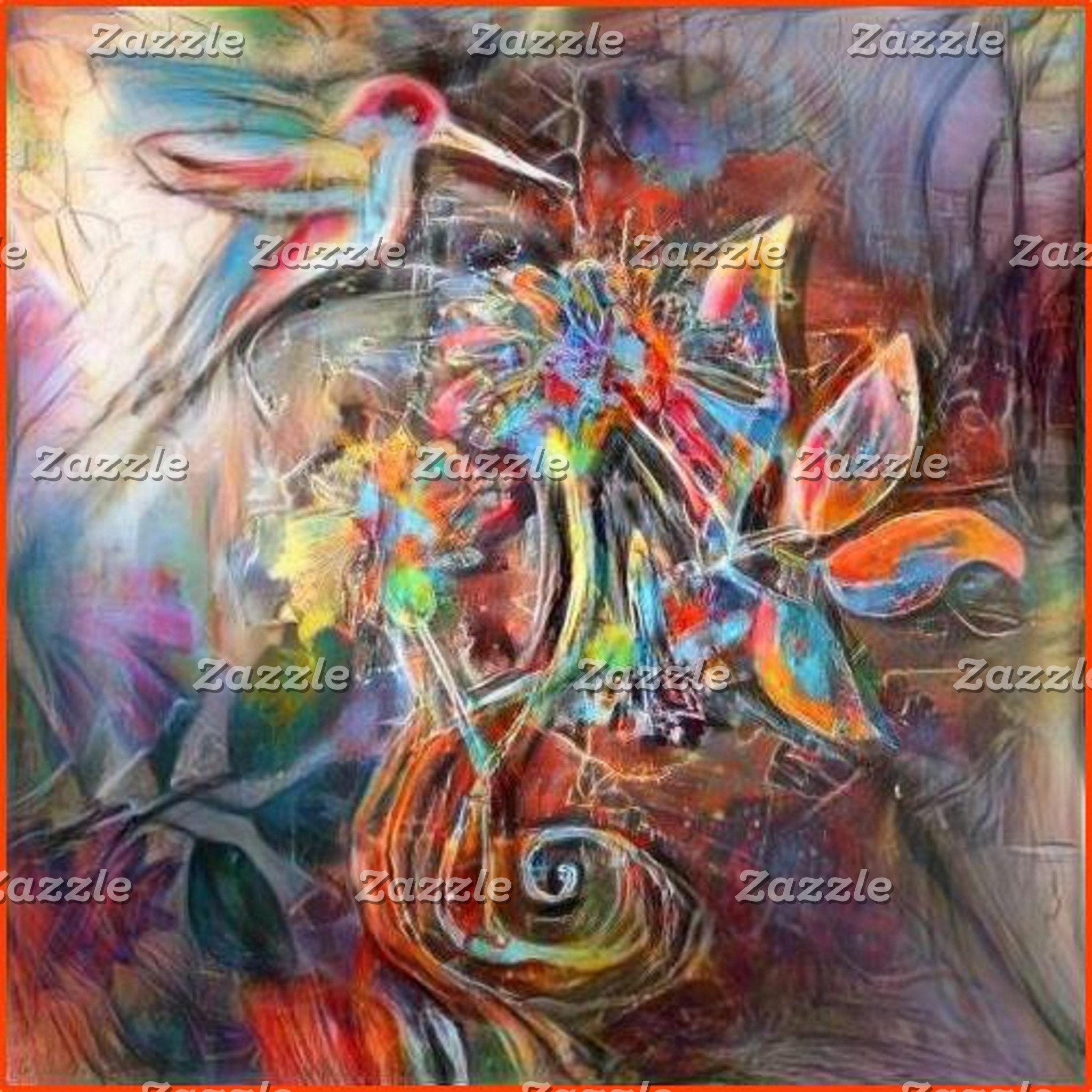 Hummingbird Flight Soft Pastels Art