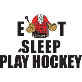 Funny Eat Sleep Play Hockey Goalie T-Shirt