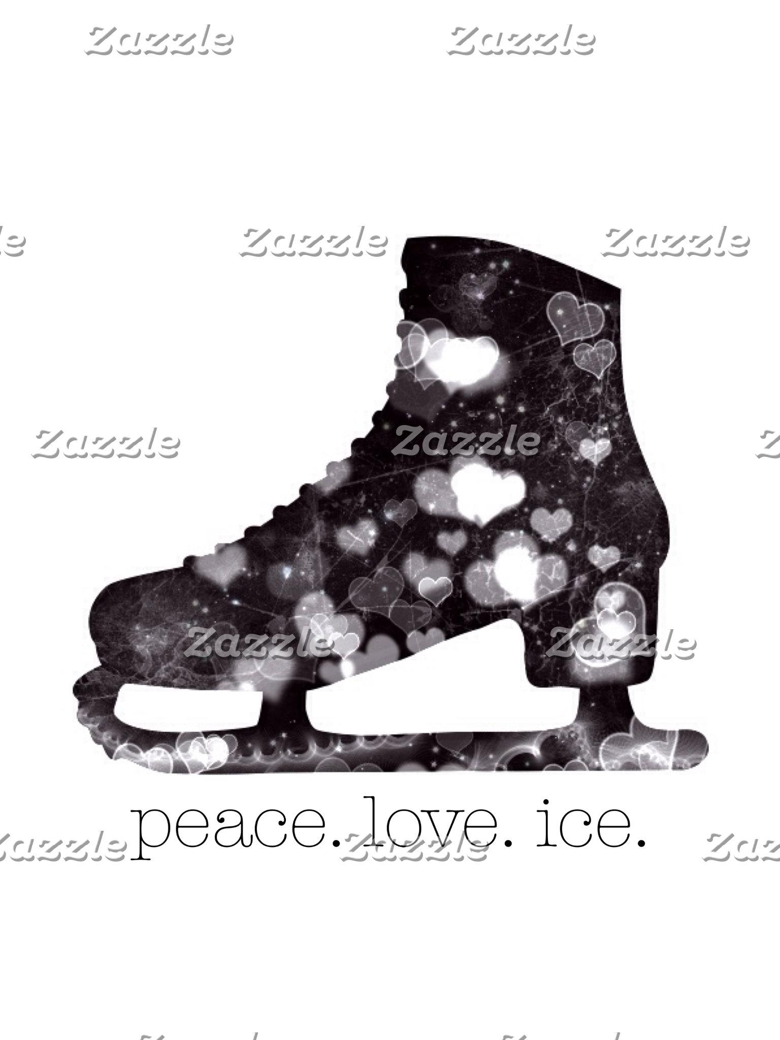 Peace Love Ice Figure Skate